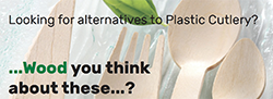 Looking for alternatives to Plastic Cutlery? - Wood you think about these?