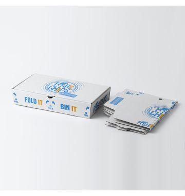 Fold IT Bin IT Corrugated Fish & Chip Boxes - Hook & Fish Design - Medium
