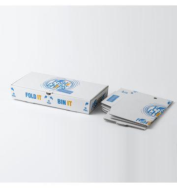 Fold IT Bin IT Corrugated Fish & Chip Boxes - Hook & Fish Design - Large