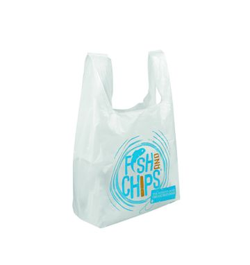 Hook & Fish Degradable Vest Carrier Bags
