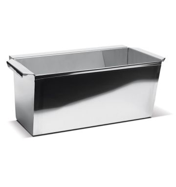 Stainless Steel Batter Tin - 12 x 6 x 6 - Top Flange