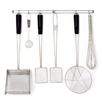 Stainless Steel Utensil Rack - 12 Hook