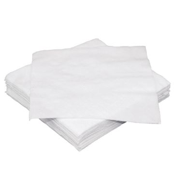 Serviettes 1 Ply White (Single)