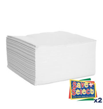 Serviettes 2 Ply White (2,000)