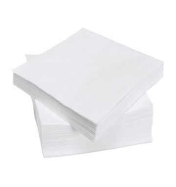 Serviettes 1 Ply White
