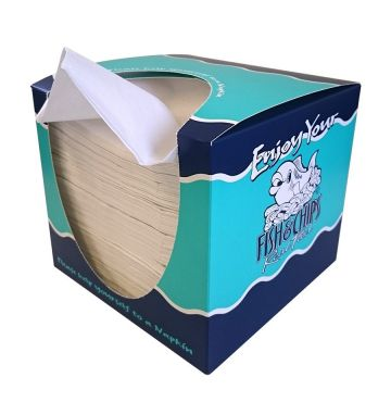 Napkins in Real Food Design Dispenser Box