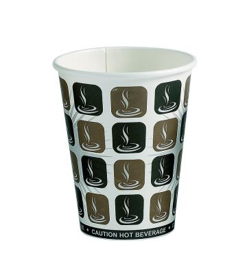 Mocha Paper Hot Cups - 10oz/330ml