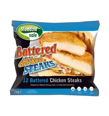 Meadowvale Battered Chicken Steaks