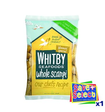 Whitby Premium Breaded Wholetail Scampi