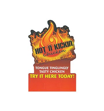 Hot N Kickin' Tent Card