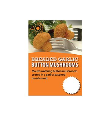 Breaded Garlic Button Mushrooms Poster