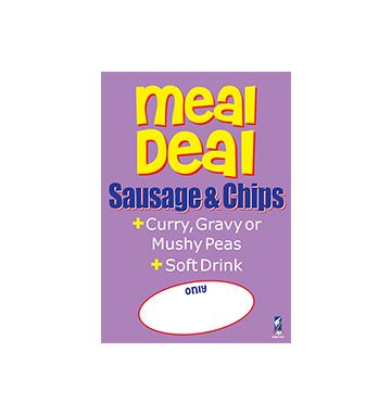 Meal Deal Poster - Sausage & Chips