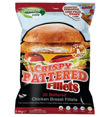 Meadow Vale Crispy Battered Chicken Fillets 120g
