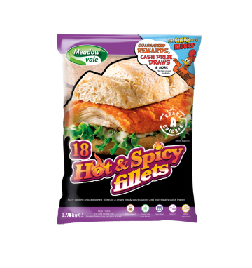 Meadow Vale Hot & Spicy Chicken Fillets 110g