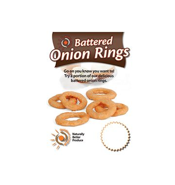 Battered Onion Rings Poster