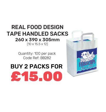 Real Food Design - Tape Handled Sacks - Special Offer