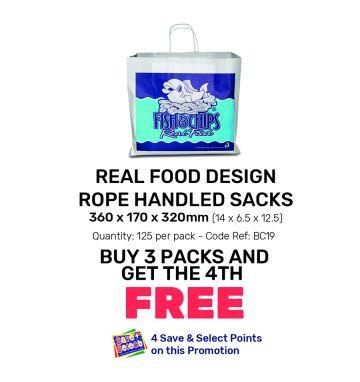 Real Food Design - Rope Handled Sacks - Special Offer