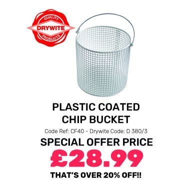 Plastic Coated Chip Bucket - Special Offer