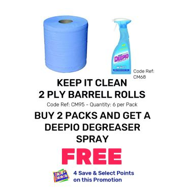 Keep It Clean 2 Ply Barrell Rolls - Special Offer