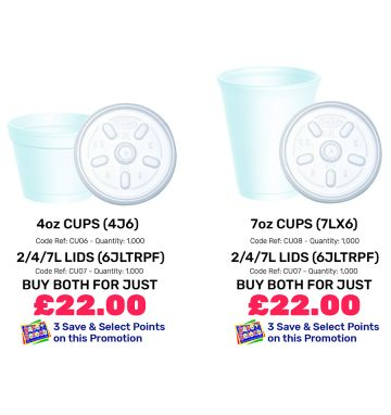 4oz and 7oz Containers and Lids - Special Offer