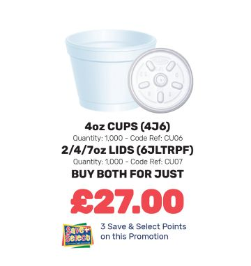 4oz Cups and Lids - Special Offer