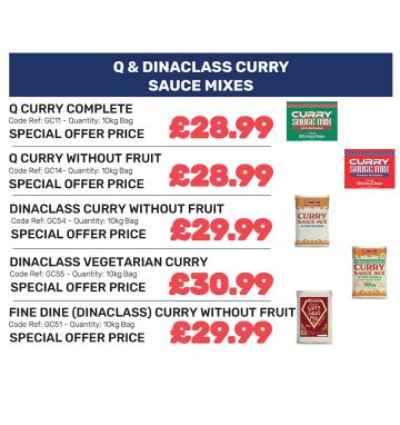 Q & Dinaclass Curry Sauce Mixes - Special Offer