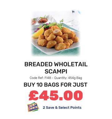 Breaded Wholetail Scampi - Special Offer
