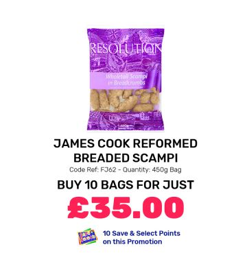 James Cook Reformed Breaded Scampi - Special Offer