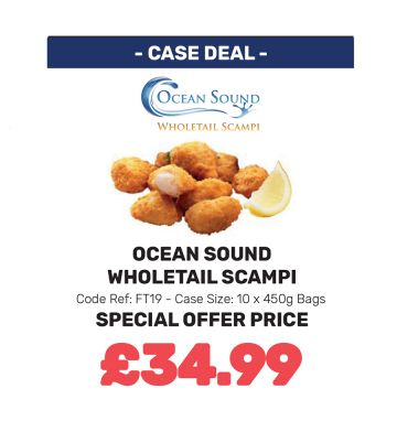 Ocean Sound Wholetail Scampi - Special Offer