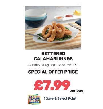 Battered Calamari Rings - Special Offer