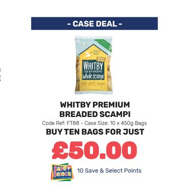 Whitby Premium Breaded Scampi - Special Offer