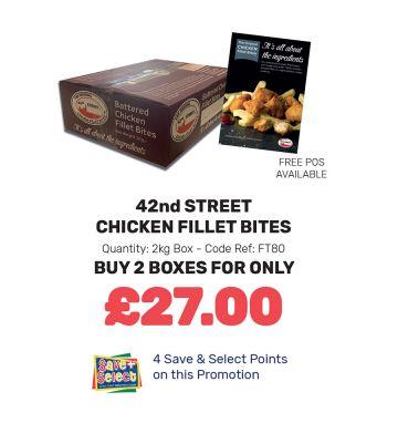42nd Street Chicken Fillet Bites - Special Offer