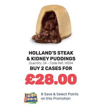 Holland's Steak & Kidney Puddings - Special Offer