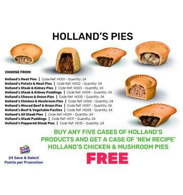 Holland's Pies - Special Offer