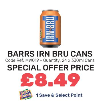 Barrs Irn Bru Cans - Special Offer