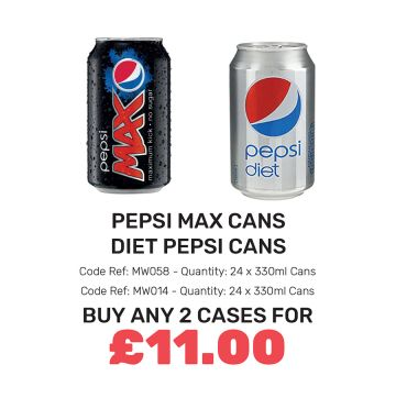 Pepsi Max/Diet Pepsi Cans - Special Offer