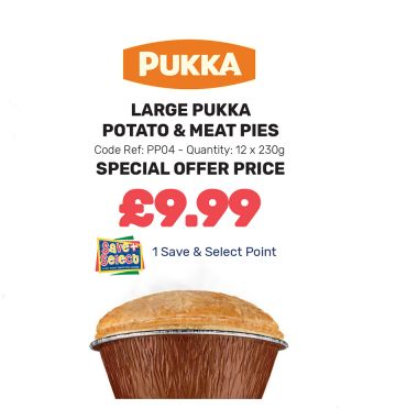 Large Pukka Potato & Meat Pies - Special Offer