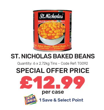 St Nicholas Baked Beans - Special Offer