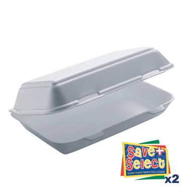 TT10 Twin Tab White Food Boxes