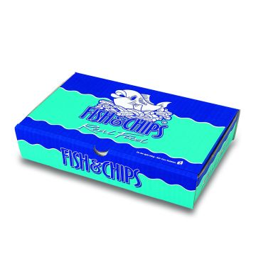 Corrugated Fish & Chip Boxes - Real Food Design - Small