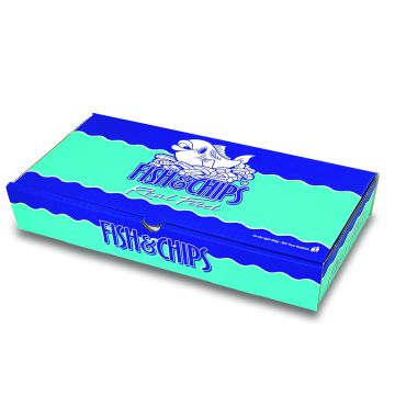 Corrugated Fish & Chip Boxes - Real Food Design - Large