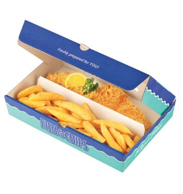 Two Compartment Corrugated Boxes - Real Food Design - Small