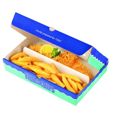 Two Compartment Corrugated Boxes - Real Food Design - Large